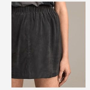 All Saints Suede Skirt